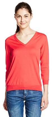 Roberto Collina (ロベルトコリーナ VNECK SWTR IN KNIT DN03022 DN0340 レッド S