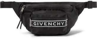 Givenchy Logo Webbing-Trimmed Nylon Belt Bag - Black
