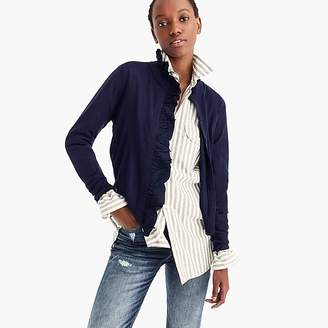 J.Crew Merino wool ruffled cardigan sweater