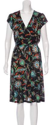 Nieves Lavi Short Sleeve Midi Dress