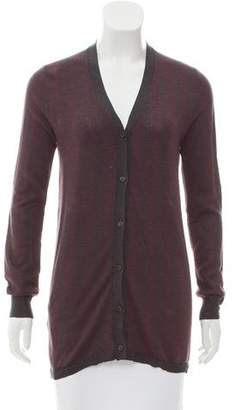Prada Silk Long Sleeve Cardigan
