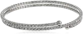 "Michael Kors Oroclone Two Row Flex Crystal Bangle Bracelet, 2.17"""