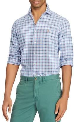 Polo Ralph Lauren Plaid Cotton Classic Fit Button-Down Shirt