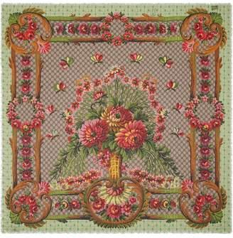 Gucci Flower vase print shawl
