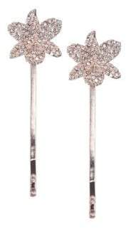 Nina Chaya Set-of-2 Small Orchid Crystal Bobby Hairpins
