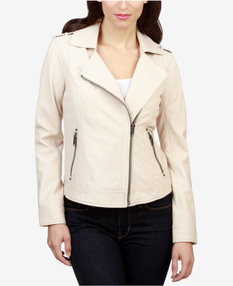 Lucky Brand Leather Moto Jacket $399 thestylecure.com