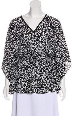 Michael Kors Silk Animal Print Tunic
