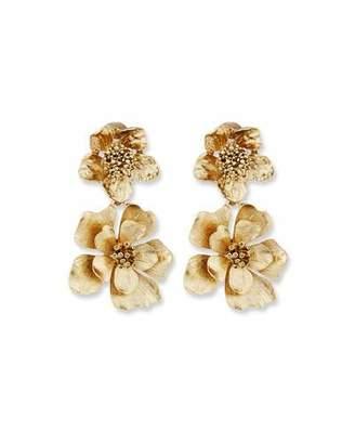 Oscar de la Renta Bold Flower Drop Earrings $245 thestylecure.com