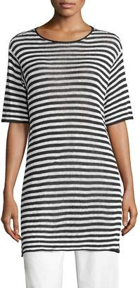 Eileen Fisher Women's Striped Organic Linen Tunic