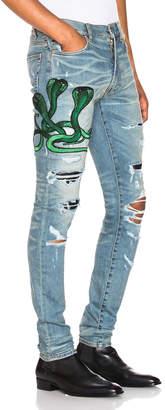 Amiri Art Patch Snake Jean