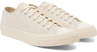 Visvim Skagway Lo Dogi Woven Canvas and Leather Sneakers - Men - Cream