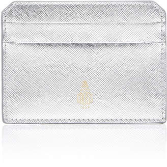 Mark Cross Metallic Saffino Leather Card Case