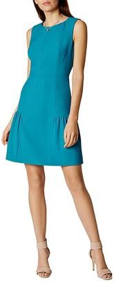 KAREN MILLEN Crepe Drop-Hem Dress $299 thestylecure.com