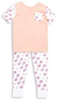 Roller Rabbit Toddler's, Little Girl's& Girl's Two-Piece Print Pajama Top& Pants Set