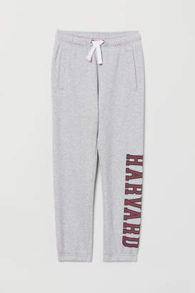 H&M Joggers with Printed Design - Gray