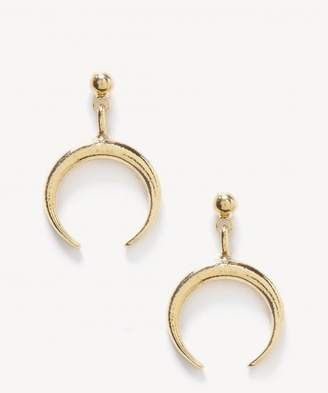 Sole Society Plated Petite Crescent Earrings