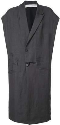 Isabel Benenato oversized vest coat