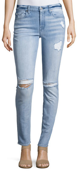 7 For All Mankind7 For All Mankind Destroyed Skinny Jeans, Bright Bristol