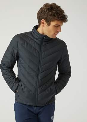 Emporio Armani Ea7 Full-Zip Technical Fabric Down Jacket