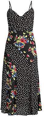 LIKELY Women's Saige Floral & Polka Dot Slip Dress