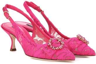 Dolce & Gabbana Lori lace slingback pumps