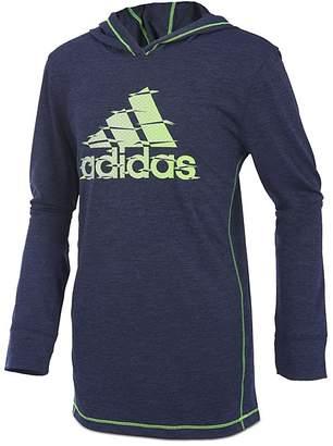 adidas Boys' Printed-Logo Hoodie - Little Kid