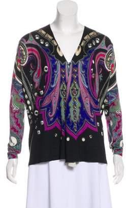 Etro Printed Silk-Cashmere-Blend Sweater
