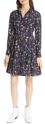 Kate Spade foxes smocked shirtdress