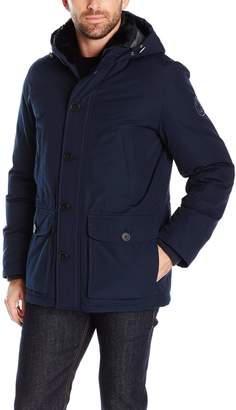Tommy Hilfiger Men's Arctic Cloth Hooded City Parka