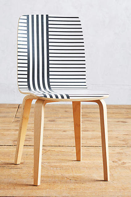 AnthropologieAnthropologie Striped Tamsin Dining Chair