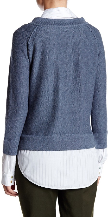 Brochu Walker Evie Layered Crew Neck Sweatshirt 3