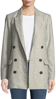 Rag & Bone Ellie Oversized Double-Breasted Wool Blazer