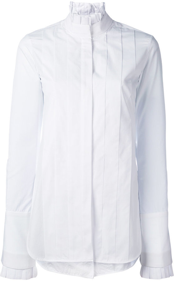 Ellery - pleated front shirt - women - Cotton - 6