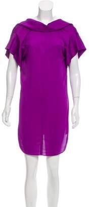 Vionnet Silk-Trimmed Mini Dress
