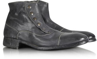 Forzieri Smoke Grey Washed Leather Boots