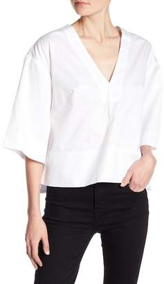 KENDALL + KYLIE Kendall & Kylie Lace-Up Back Boxy Blouse