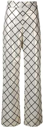 Genny geometric printed trousers