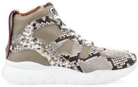 Bally Men's Birko Snakeskin High-Top Sneakers - Wheat - Size 8 D