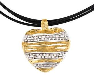 Roberto Coin 18K Diamond Elefantino Flex Heart Pendant Necklace