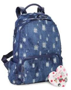 School Denim Backpack