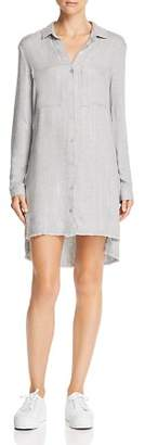 Bella Dahl Frayed Step Hem Shirt Dress