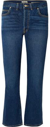 EVE Denim - Jane Cropped High-rise Flared Jeans - Mid denim