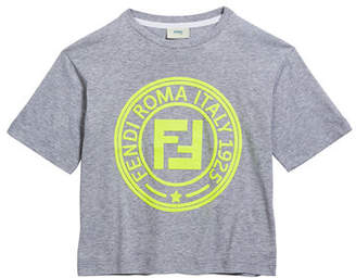 Fendi Boy's Logo T-Shirt, Size 4-8
