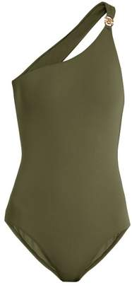 Melissa Odabash Seychelles One Shoulder Swimsuit - Womens - Khaki
