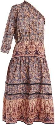Sea Asymmetric silk-crepe dress