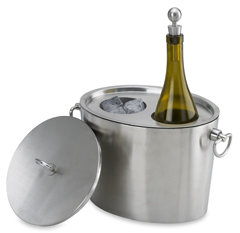 Stainless Steel Insulated Oval Wine/Ice Bucket