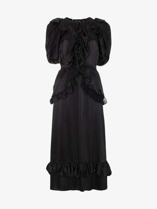 Simone Rocha Ruffle front dress with mesh back
