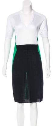 Balenciaga Wool Colorblock Dress