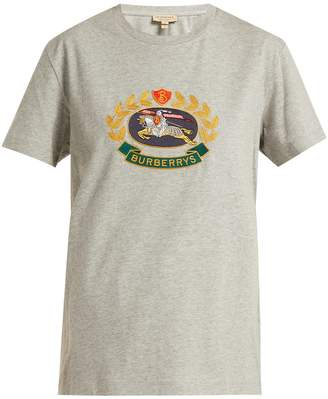 Burberry Archive crest-embroidered cotton T-shirt