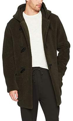 Vince Men's Sherpa Hooded Toggle Coat